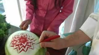 getlinkyoutube.com-Thai Fruit Carving