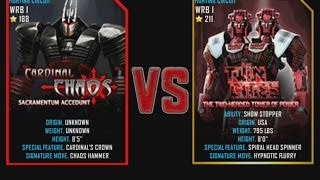 Real Steel WRB Cardinal Chaos VS Twin Cities Final Championship NEW