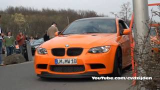 3x BMW M3 GTS in Action!! Great Sounds!