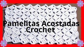 getlinkyoutube.com-Como hacer el Punto Pamelitas Acostadas en tejido crochet tutorial paso a paso.