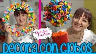 getlinkyoutube.com-Decoración de Fiestas con Globos :: Chuladas Creativas