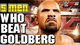 getlinkyoutube.com-Only 5 Men Defeated Goldberg - Who were they? - WWE 2K15