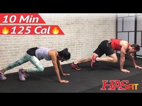 10 Minute Cardio and Abs HIIT Workout with No Equipment Cardio Ab without Equipment