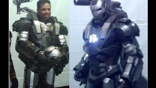 getlinkyoutube.com-Wandrix - Iron Man War Machine Cosplay