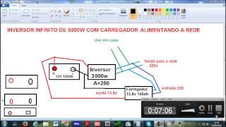 getlinkyoutube.com-INVERSOR DE 5000W INFINITO COM CAREGADOR DE BATERIAS 1