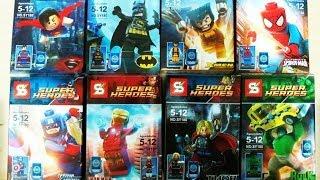getlinkyoutube.com-LEGO Superheroes Mavel Sheng Yuan Bootleg SY180 Review