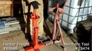 getlinkyoutube.com-Manual Tire Changer Comparison - Harbor Freight 69686 vs. Northern Tool 13474