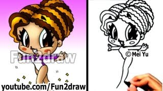 getlinkyoutube.com-How to Draw Cartoon People - Gymnast Girl - Drawing Lessons - Learn to Draw - Fun2draw
