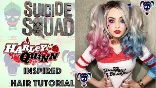 getlinkyoutube.com-Suicide Squad Harley Quinn Inspired Hair Tutorial