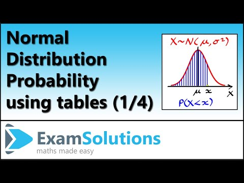 Normal distribution: Finding the P(Xless than x) x more than mean : ExamSolutions