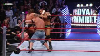 getlinkyoutube.com-John Cena, Triple H and Batista collide as the final three Superstars of the 2008 Royal Rumble Match