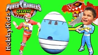getlinkyoutube.com-World's Biggest POWER RANGERS Surprise Egg! Toy Adventure + Dino Charge Surprises HobbyKidsTV