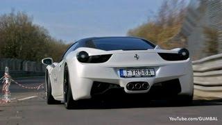 getlinkyoutube.com-Novitec Ferrari 458 Italia + Yellow/Black 458 Italia - Brutal Sounds!