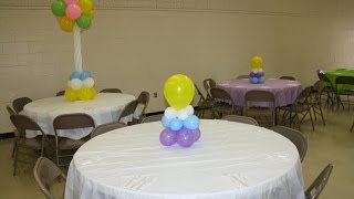 "getlinkyoutube.com-How to ""Simple and Affordable"" Balloon Centerpiece - Baby Shower, Sweet 16, Party"