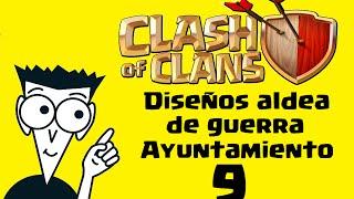 getlinkyoutube.com-Diseños Aldea Guerra TH9 - Clash of Clans Enfurecido