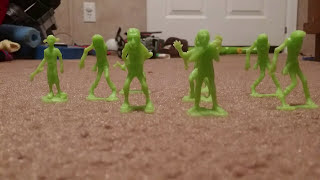 Army men vs zombies stop motion part 1