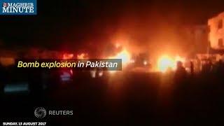 Bomb explosion in Pakistan