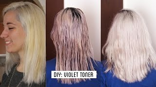 getlinkyoutube.com-HOW TO GET WHITE HAIR / GREY HAIR , make your own violet toner at home TUTORIAL