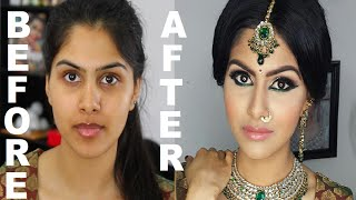 getlinkyoutube.com-Indian/Bollywood/South Asian Bridal Makeup | Start to Finish | Mona Sangha
