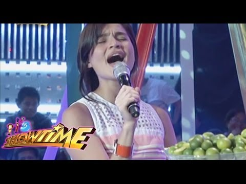 Anne Curtis belts part of 'Let It Go' on 'Showtime'