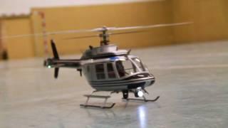getlinkyoutube.com-Bell 206 Jet Ranger scale T-rex 450 Police