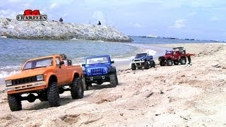 getlinkyoutube.com-16 Trucks beach Trail: Land Rover Defender Dingo Honcho Trail Finder 2 Ford hilux Wild Willy