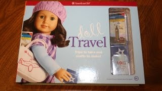 getlinkyoutube.com-Doll Travel Craft Kit | American Girl Product | Show & Tell | Review AG Book Doll Travel