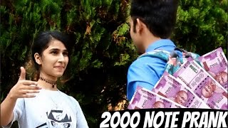 getlinkyoutube.com-Getting Kisses And Girls Number with 2000 NOTE (TWIST) | PRANK IN INDIA |