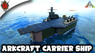 getlinkyoutube.com-ARK Survival Evolved Build - ARKcraft Carrier Ship!