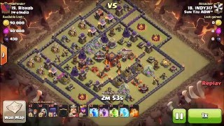 getlinkyoutube.com-More Anti-2 Star Max TH10 Bases 3 Starred