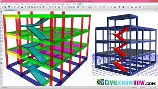 Modelling Staircase in Etabs 2016 [Beginners Tutorial]