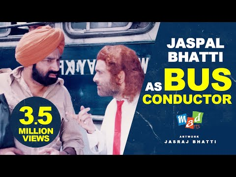 Jaspal Bhatti as a Bus Conductor | FULL TENSION | * Jaspal Bhatti, Vivek Shauq & BN Sharma