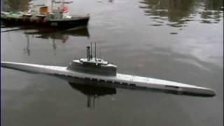 RC подводная лодка U Boot XXI in 1/32 RC Teil II Прикольные Видео RC