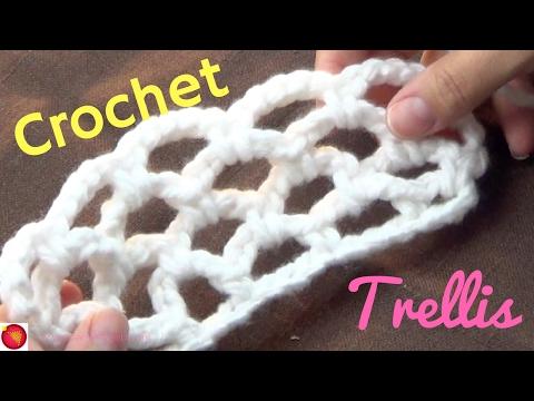 Crochet Trellis Stitch