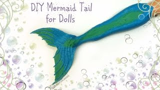 getlinkyoutube.com-DIY Doll Mermaid Tail