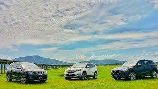 getlinkyoutube.com-2015 Taste Drive : Honda CR-V VS. Mazda CX-5 VS. Nissan X-Trail