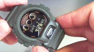 getlinkyoutube.com-Casio Solar Military Green G-Shock Watch G6900KG-3