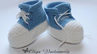 Авторские пинетки от Ольги Варламовой  Crocheted sandals