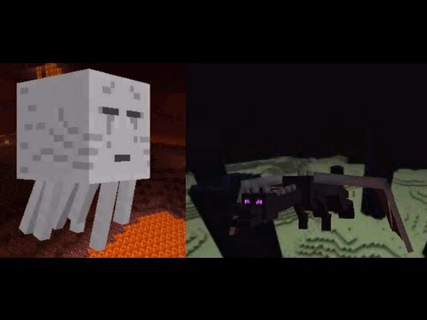 Epic Rap Battles of Minecraft - Ghast vs Enderdragon - Epic