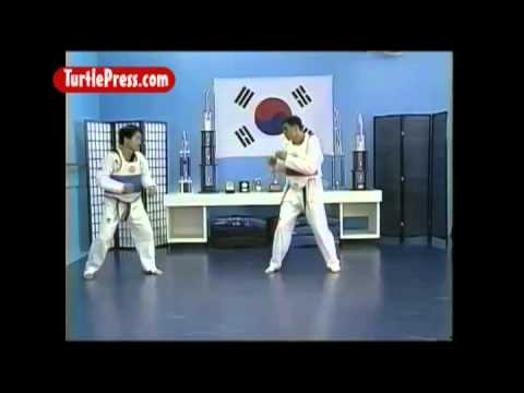 Roundhouse Kick - Ax Kick Taekwondo Sparring Combination