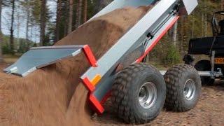 getlinkyoutube.com-Ultratec ATV trailer with Hydraulic tipping & Polaris Ranger 570