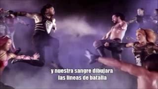 "getlinkyoutube.com-WWE Battleground 2016 theme song ""this is a war"" letra en español"