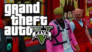 getlinkyoutube.com-GTA 5 Unprepared Criminals!  (GTA 5 Funny Skits with The Crew!)