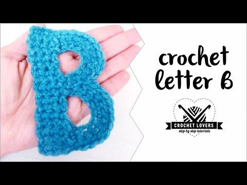 How to crochet LETTER B ♥ CROCHET LOVERS