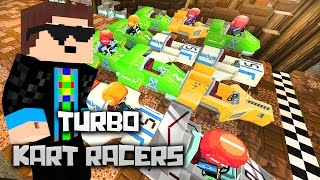 getlinkyoutube.com-Kopf an Kopf Rennen! - Minecraft: TURBO KART RACERS