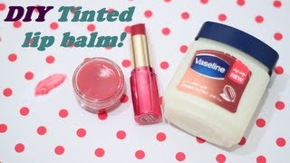 "getlinkyoutube.com-مرطب شفايف أحمر! سويه بنفسك DIY tinted lip balm ""اسأل مجرب"""