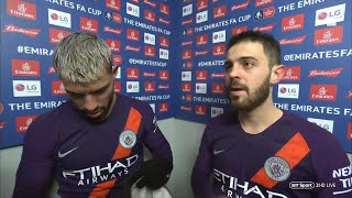 """""""The quadruple is possible!"""" Aguero and B. Silva react to Man City's win at Swansea"""