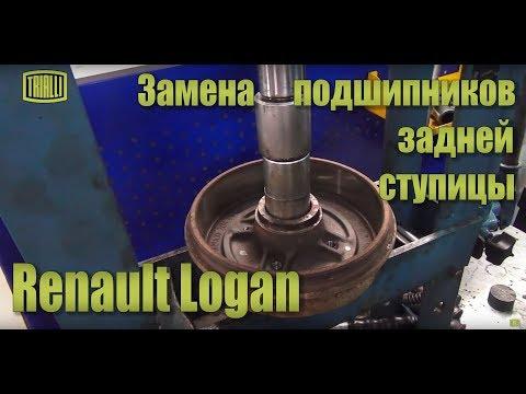 Renault Logan - замена подшипников задней ступицы / TRIALLI