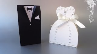 getlinkyoutube.com-Tutorial: Bomboniere Abiti da Matrimonio - Wedding dresses favors