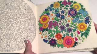 getlinkyoutube.com-Secret Garden - Adult Coloring Book Review